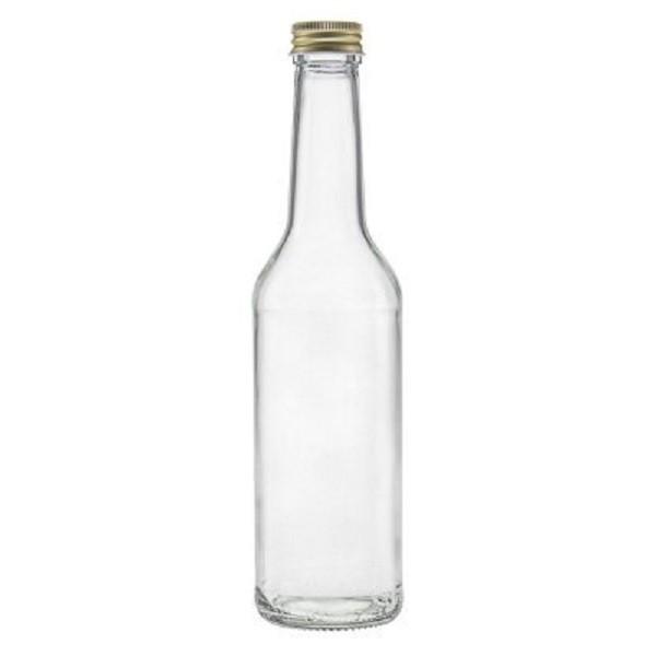 Glasflasche 350 ml Gradhalsflasche mit Schraubverschluss kaufen