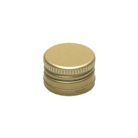 Schraubverschluss Deckel PP 22 Gold Aluminium