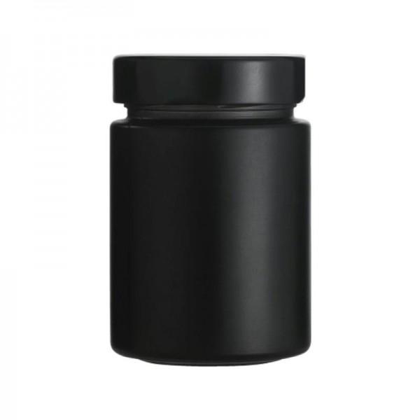 340 ml Gewürzgläser schwarz mit Schraubverschluss