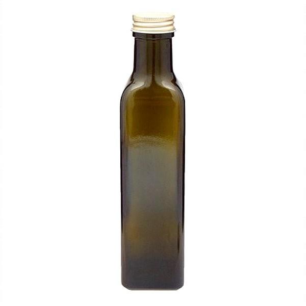 Ölflasche 250 ml Braunglas eckig