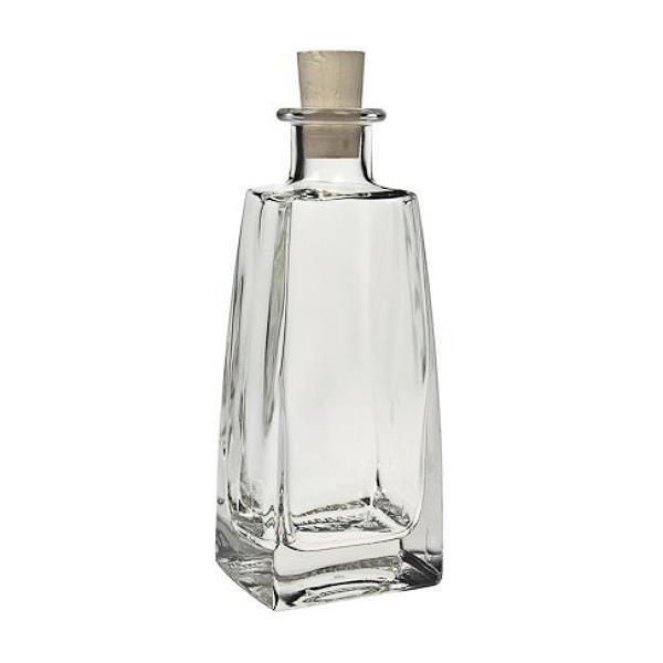 Glasflasche 200 ml viereckig mit Korken