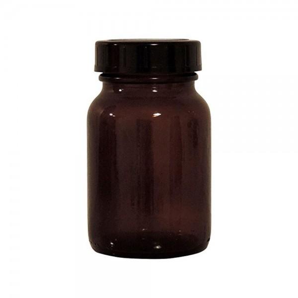 Braune Glasdose 200 ml mit Schraubverschluss