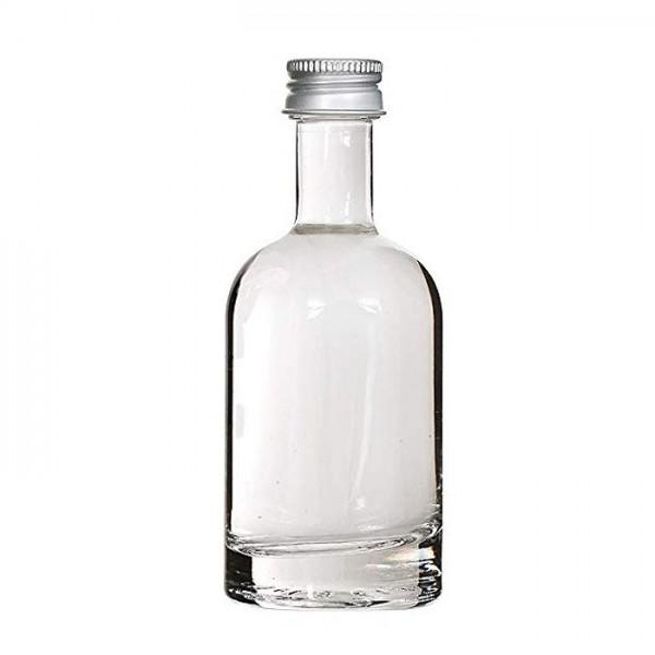 Klieine Glasflasche 50 ml Ginflasche leer mit dickem Boden