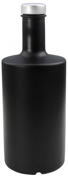 Schwarze Glasflasche 500 ml Likörflasche Ölflasche Ginflasche kaufen
