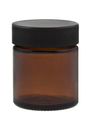Glastiegel 30 ml Braunglas Cremedose