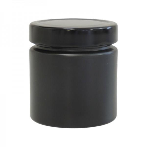 mikken 210 ml schwarze Marmeladengläser