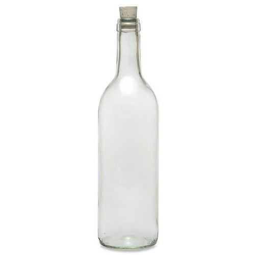 Glasflasche 750 ml mit Korken Weinflaschen
