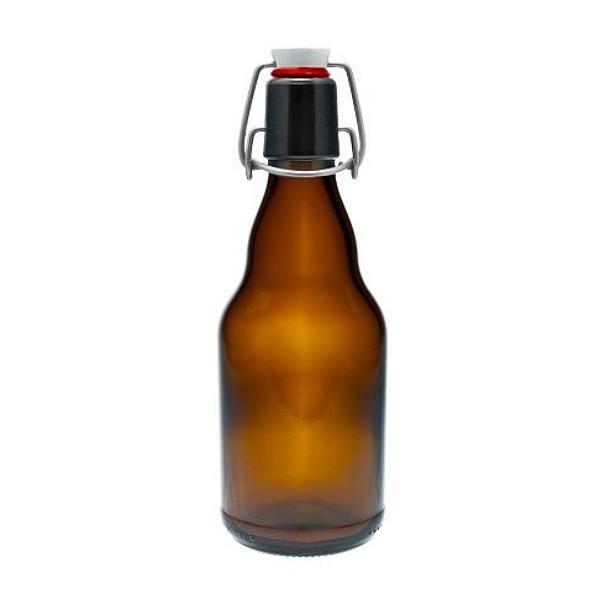 mikken Braune Glasflaschen 330 ml mit Bügelverschluss Porzellan