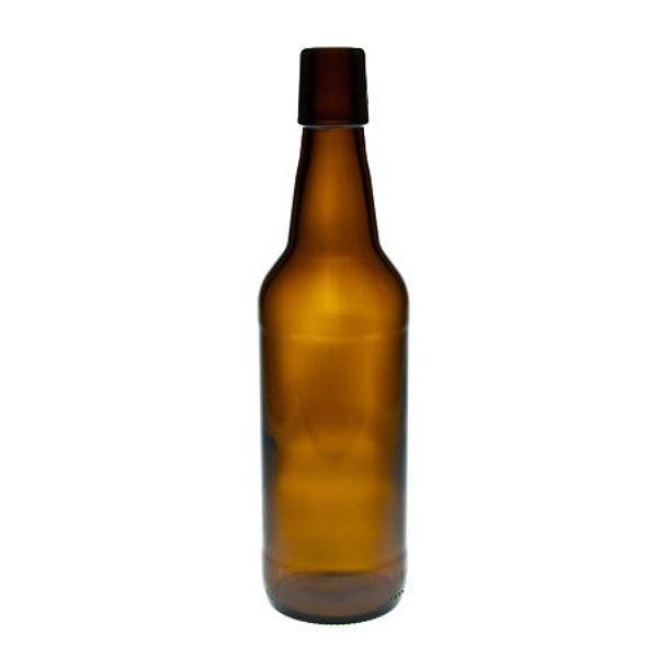 Bügelverschlussflasche 500 ml braun Glasflasche