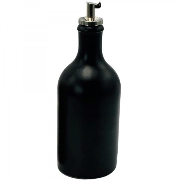 Öldosierer 500 ml Keramik schwarz
