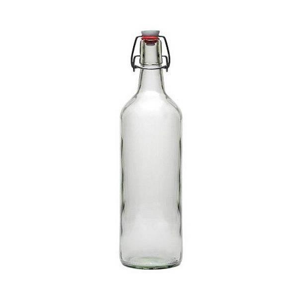 Glasflasche 1000 ml mit Bügelverschluss