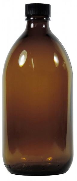 500 ml Enghalsflasche braun Laborflasche mit Schraubverschluss