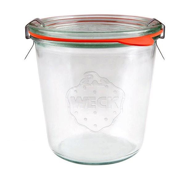 WECK Sturzglas 580 ml Einmachglas mit Gummiring und Klammern 1/2 Liter