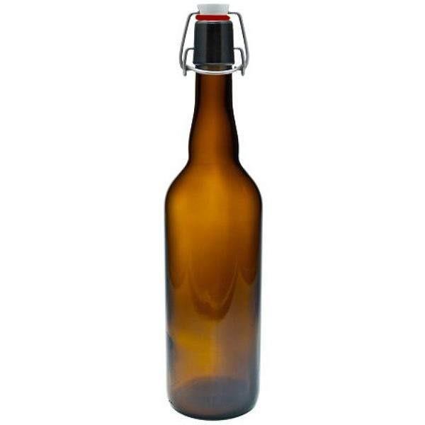 Bügelverschlussflasche 750 ml braun Bierflasche