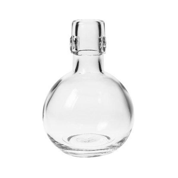 Bügelverschlussflasche 200 ml Kugel Form Glasflasche für Bügelverschluss