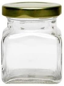 120 ml Quadratglas mit Schraubverschluss