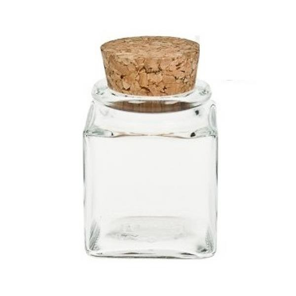 50 ml Korkenglas quadratisch Gewürzglas mit Korken Glasdose mit Korkdeckel eckig kaufen