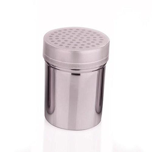 Gewürzstreuer 300 ml Rub-Streuer aus Edelstahl mit Kunststoffdeckel