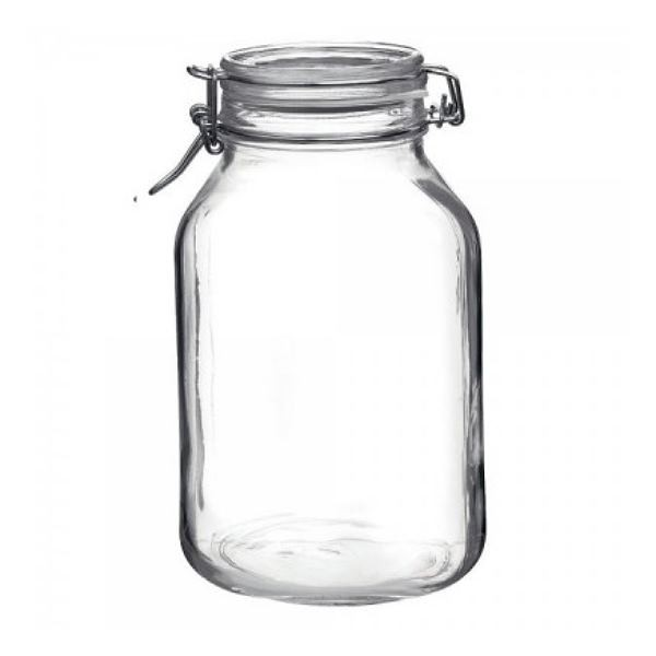 Bormioli Fido 3 Liter Einmachglas Vorratsglas mit Bügelverschluss