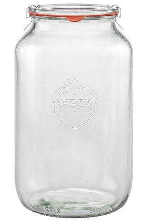 WECK Einmachglas groß 3 Liter mit Deckel und Klammern