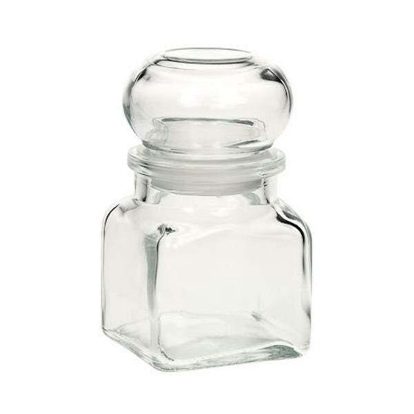 Gewürzgläser 120 ml eckig mit Glasdeckel Korkenglas mit Glasstopfen luftdicht