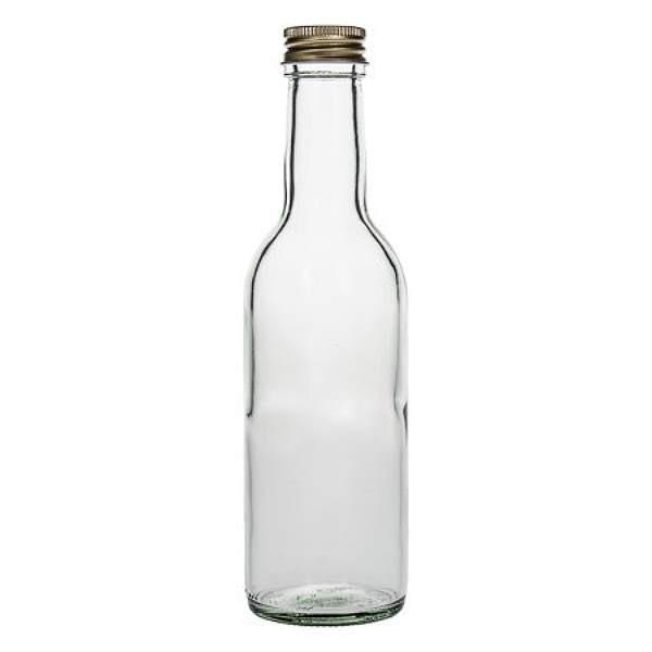 Glasflasche 250 ml gerade Form