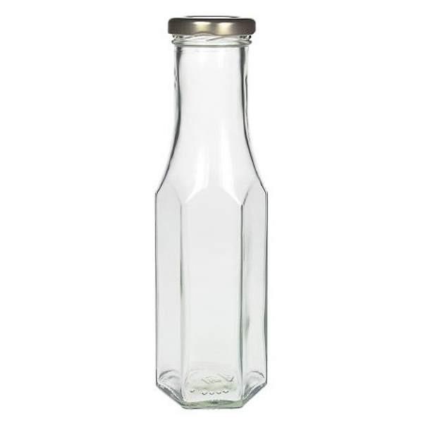 Glasflasche mit Twist-Off Schraubdeckel Saucenflasche Smoothieflasche