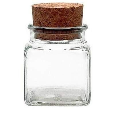 Korkenglas 120 ml quadratisch Gewürzglas mit Korken eckig leere Gewürzgläser kaufen