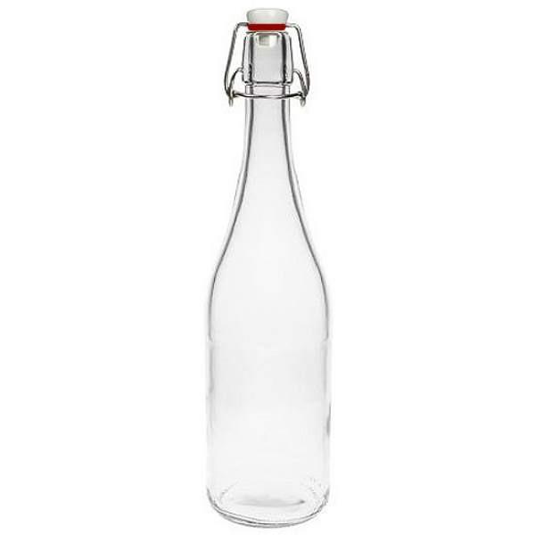 Glasflasche 750 ml mit Bügelverschluss Porzellan