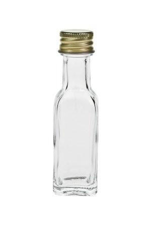 mikken Mini Glasflaschen Flaschen 20 ml viereckig Ölflasche Probenflasche klar mit Schraubverschluss