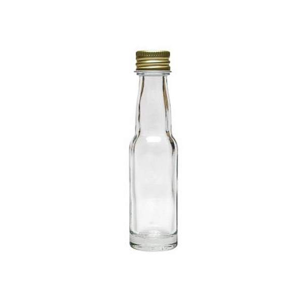 Glasflasche 20 ml Kropfhals mit Schraubverschluss