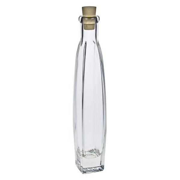 Glasflasche 200 ml eckig mit Korken