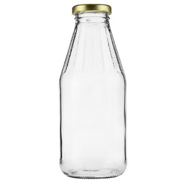 mikken Saftflasche 500 ml Flaschen Glasflaschen mit Twist Off Schraubverschluss