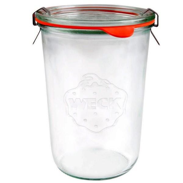 Weck Sturzglas 850 ml mit Gummiring und Klammern 3/4 Liter