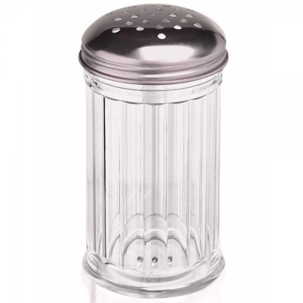 Gewürzstreuer 300 ml Rub-Streuer aus Kunststoff mit Deckel Edelstahl