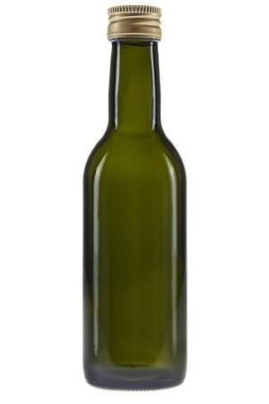 mikken Glasflasche 250 ml grün Ölflasche mit Schraubdeckel