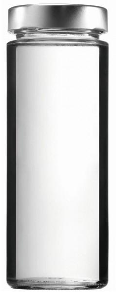 Glasflasche 580 ml mit weiter Öffnung und Schraubverschluss