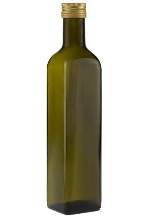 Glasflasche 500 ml eckig grün braun Ölflasche kaufen